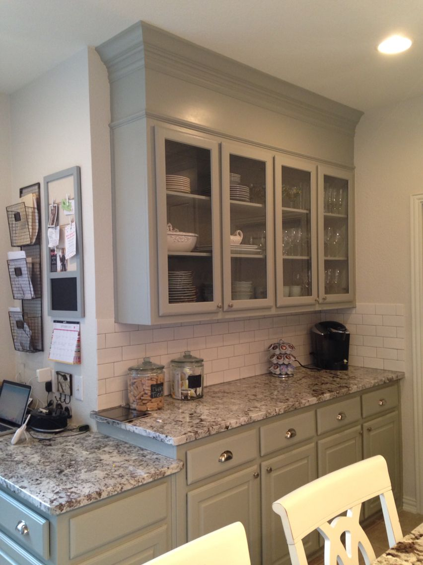 Builder grade remodel DIY. Cabinets Benjamin Moore ...