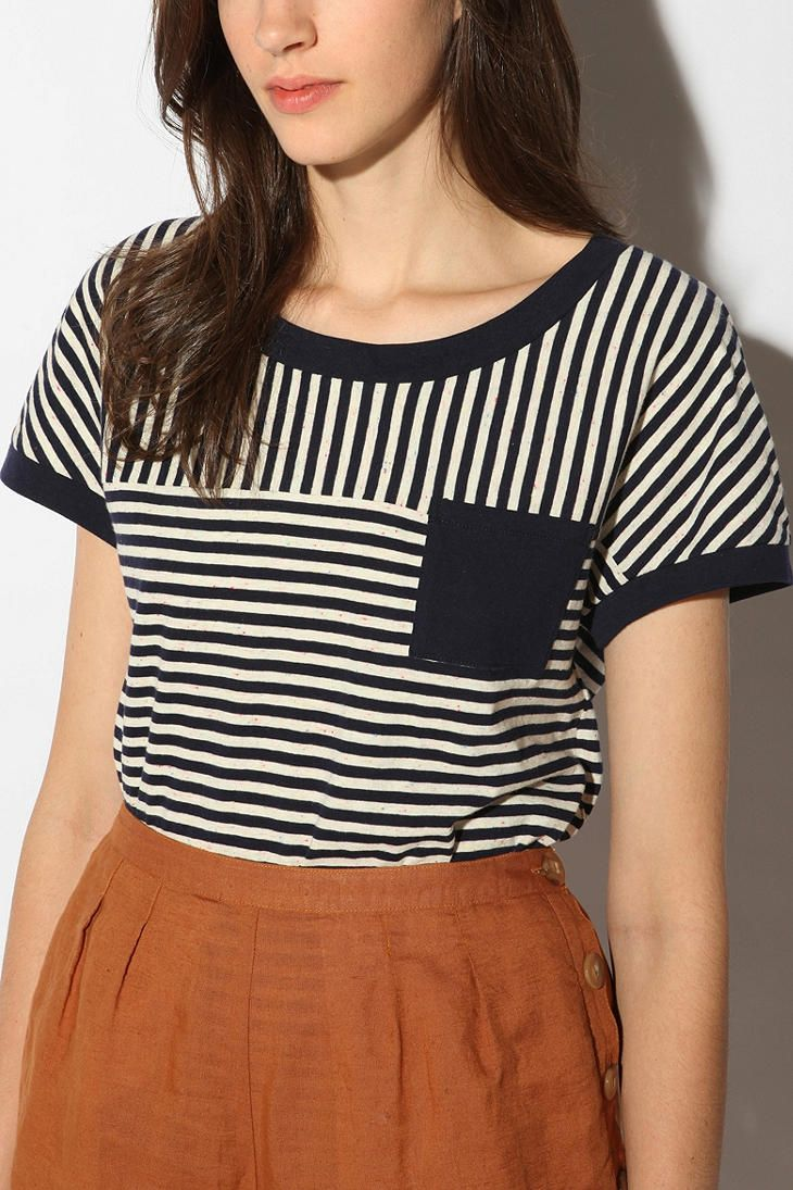 Urban Outfitters: BDG Easy Stripe Contrast Tee.