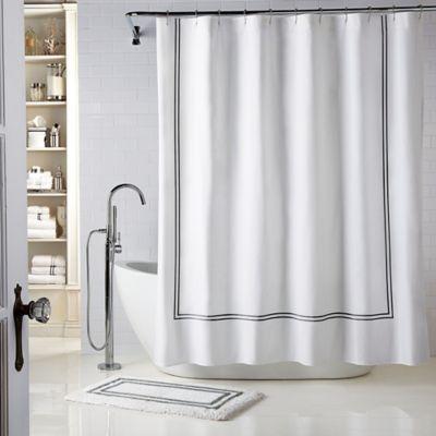 Buy Wamsutta® Baratta Stitch Micro Cotton Shower Curtain From Bed Bath U0026  Beyond