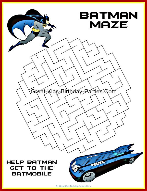 Superhero Printables | Superhero printables, Batman party ...