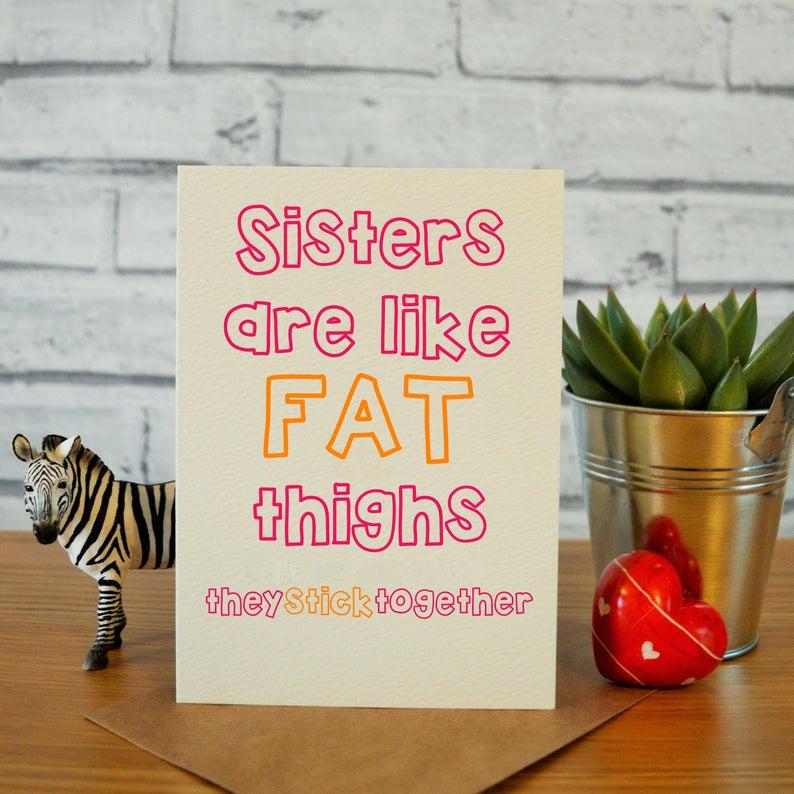 Sister Birthday Card Funny Sister Birthday Card Funny Sister Card Sister Birthday Gift Sister Birthday Gift Ideas Birthday Card Sister Sister Birthday Card Funny Sister Birthday Card Funny Birthday Cards