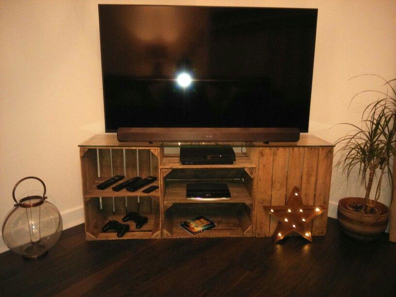 Apple Crate Tv Unit Wood Crafts Furniture Crate Tv Stand Crate