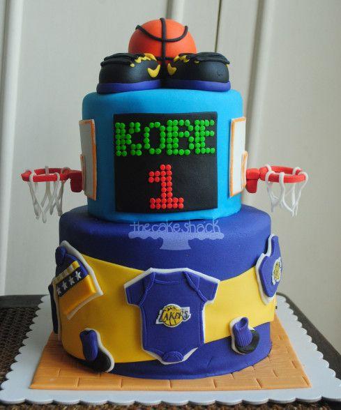 Score Board Basketball Cake Kobe Bryant Inspired Cake Boogie