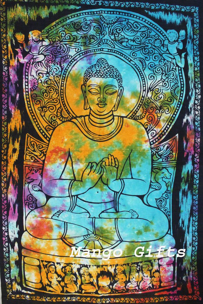 Buddha Tapestry Wall Hangings details about goddess buddha tie-dye tapestry wall hanging poster