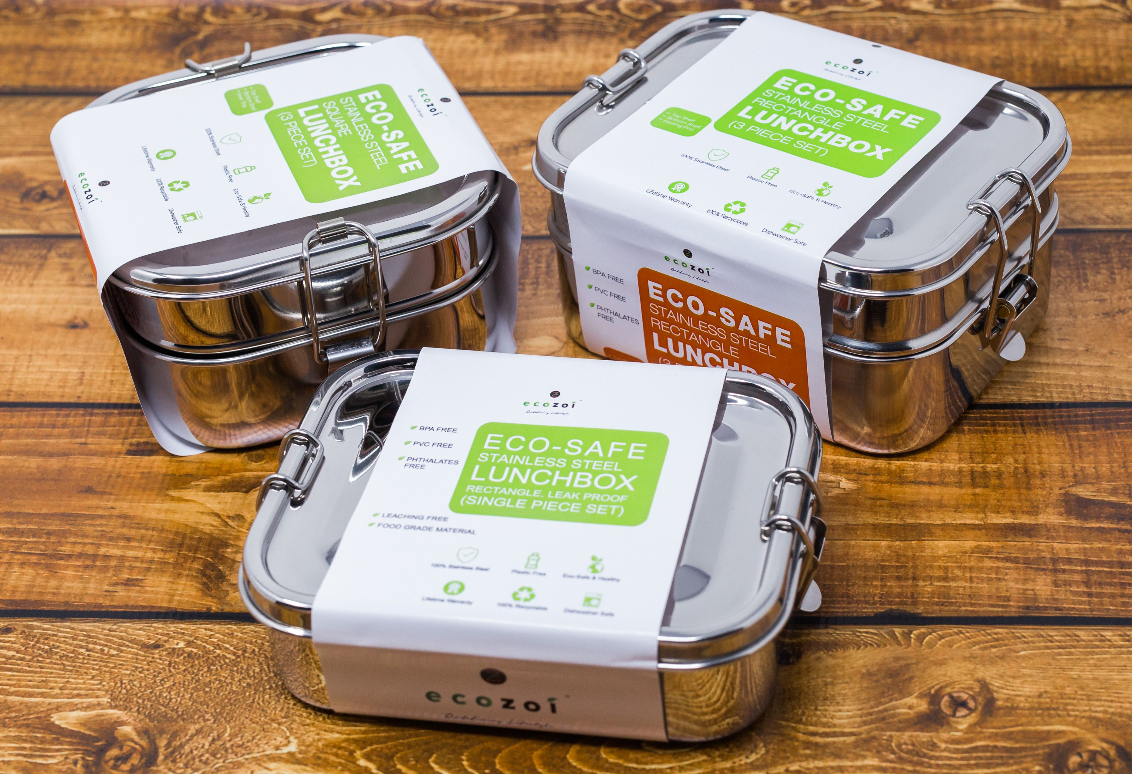 Eco safe stainless steel lunch bento boxes premium
