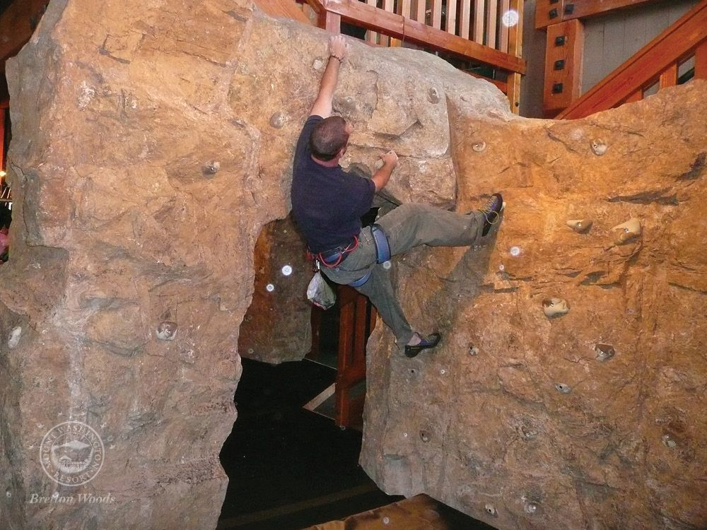 Rock feature in house goes into secret bouldering cave