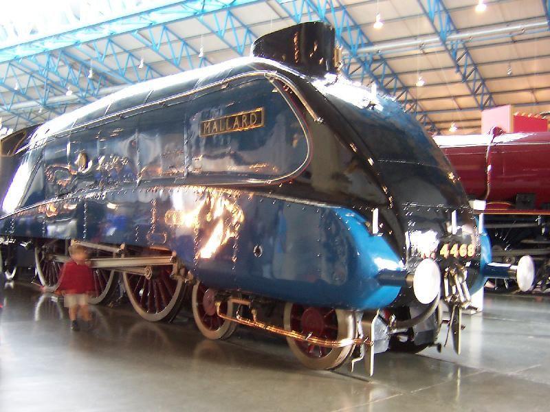 the mallard in the york railway museum