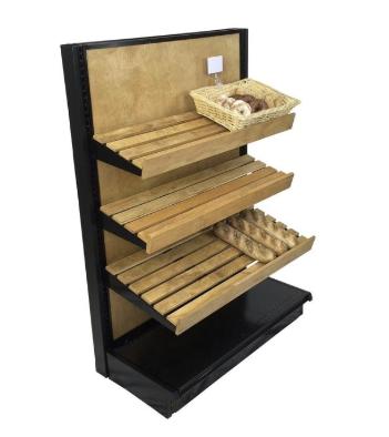 Slatted Wood Shelves Retail End Cap Display Kit 54h X 36w Bakery Display Wood Shelves Bakery Decor