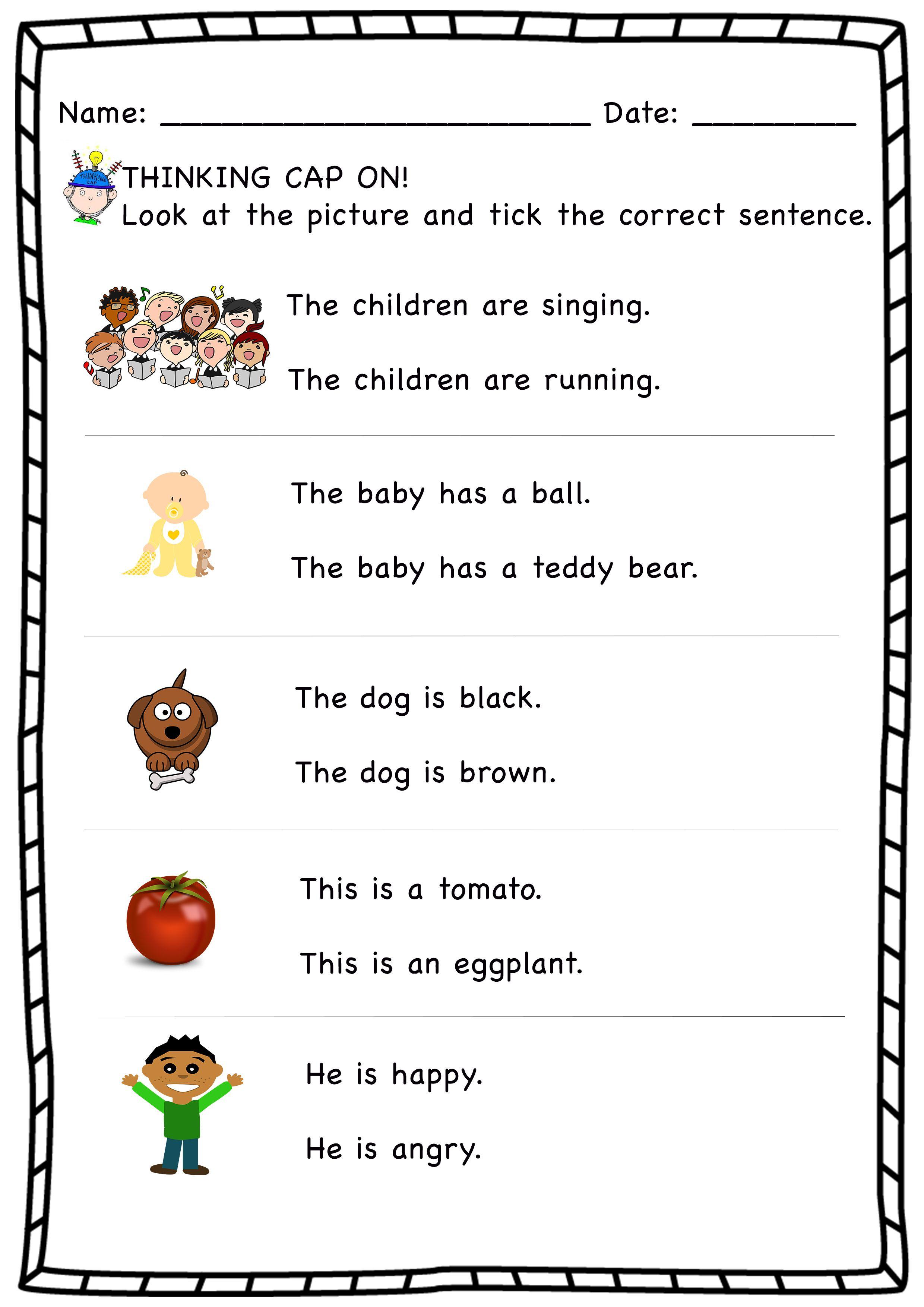 Sentence Correction Worksheets 1st Grade