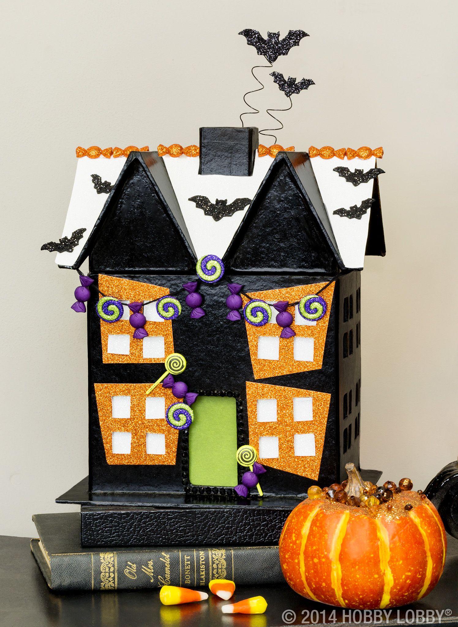 Paper Mache House Shape Set Shop Hobby Lobby Halloween Crafts Decorations Easy Halloween Decorations Halloween Fun