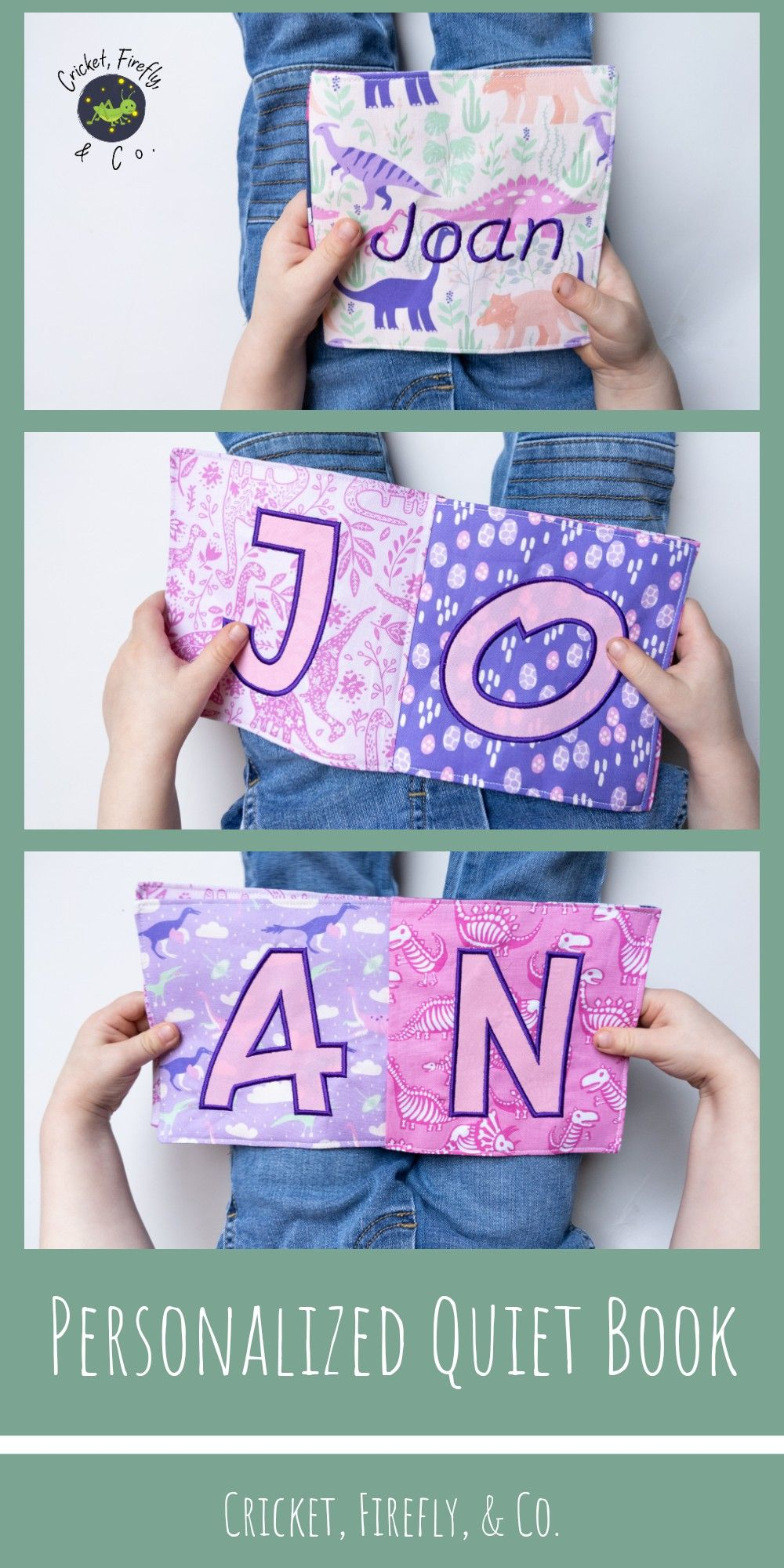 This personalized cloth book is a fun and educational ...