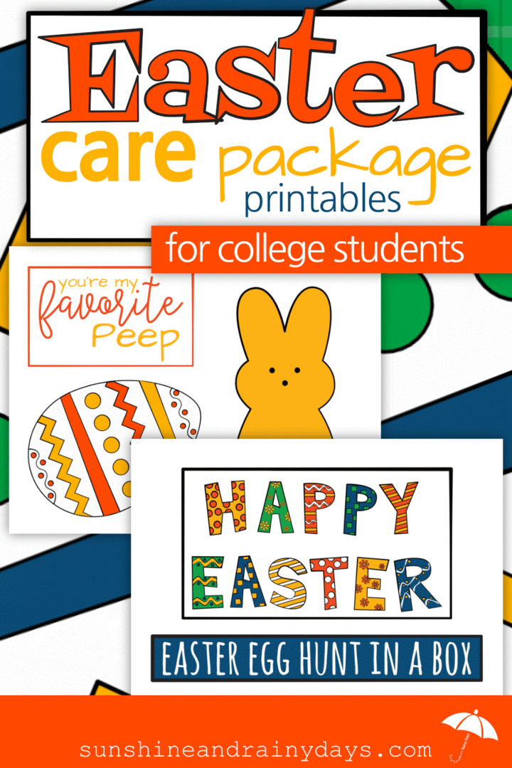 Easter Care Package Printables Pdf Easter Care Package Care Package Easter Prints