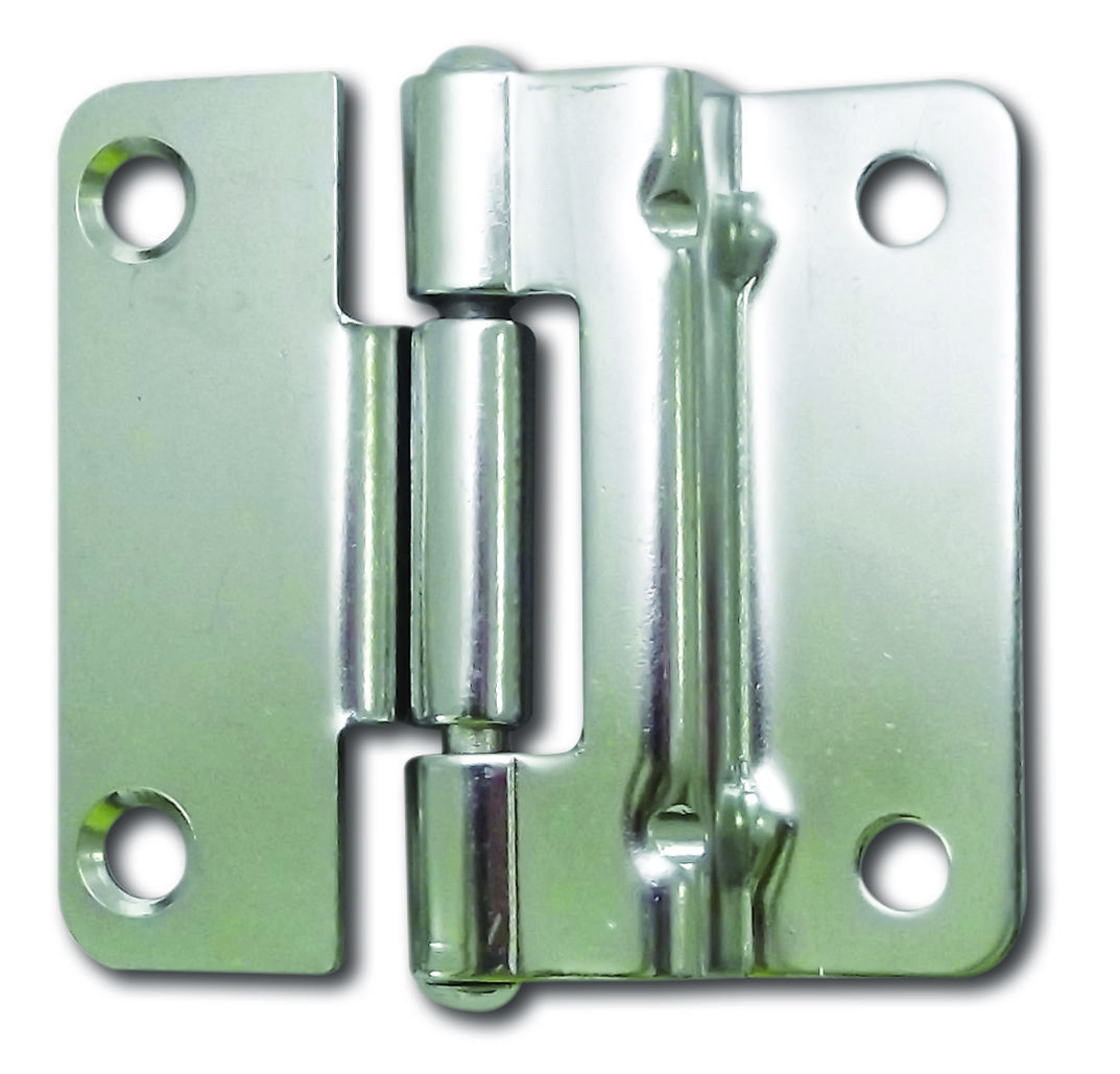 Butt hinge, made of stainless steel 304, electro polished, for panel ...