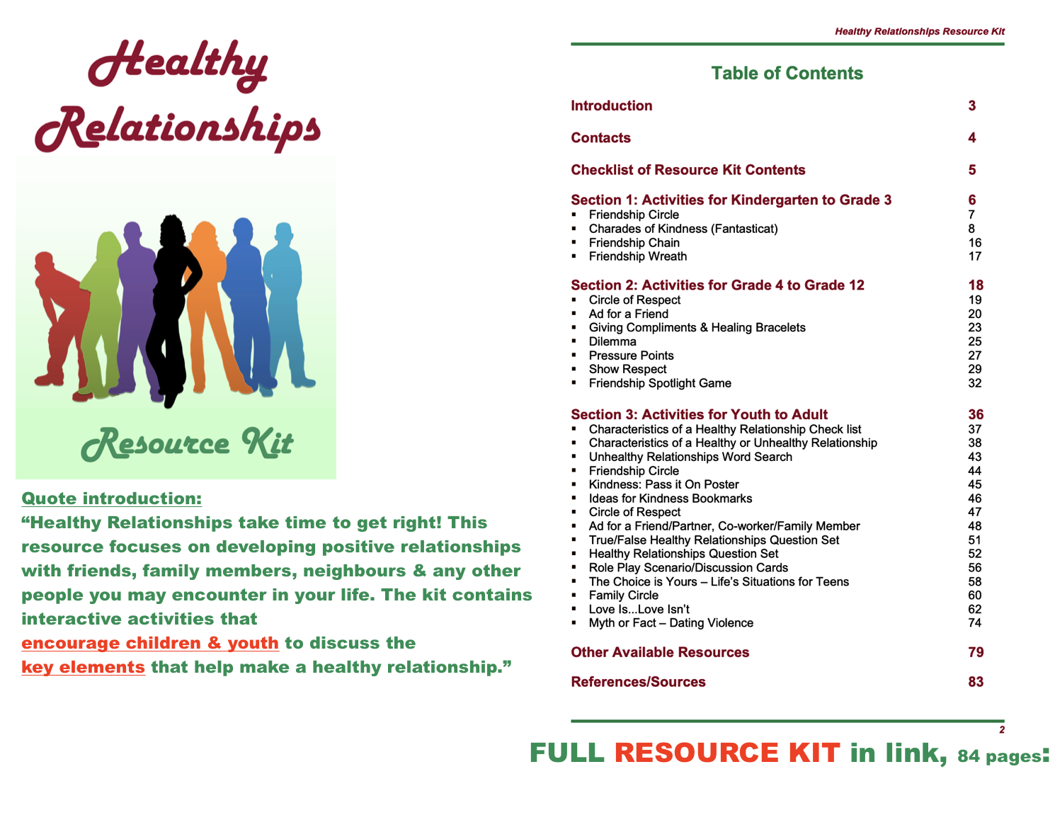 Resource Kit Healthy Relationships Quote Introduction