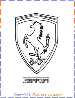 Printable Car Ferrari Logo Coloring Page For Kids Ferrari Coloring Sheet For Kids Ferrari 812 S Free Kids Coloring Pages Cars Coloring Pages Coloring Pages