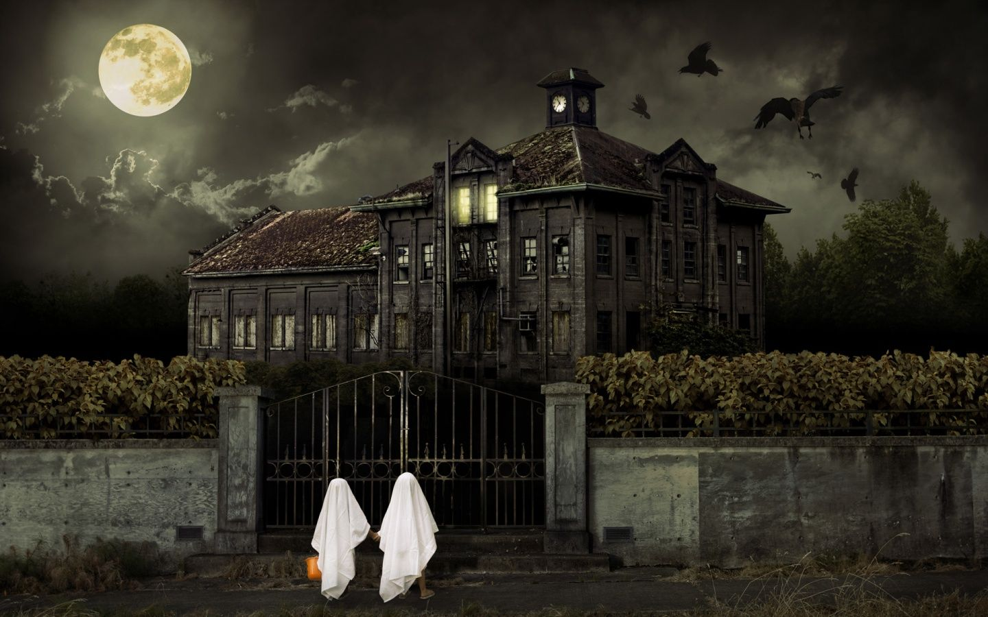 Halloween Haunted House Wallpaper | Halloween Haunted House HD Wallpaper,  Haunted HD Wallpaper, 3D Horror .
