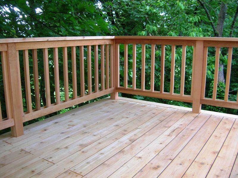 Cedar Deck And Railing Deck Ideas Cedar Deck Deck