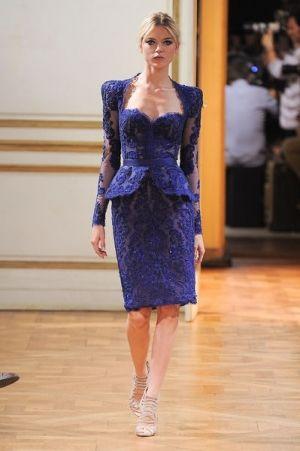 تيور من الدانتيل الازرق Evearabia Soiree Dress Fashion Couture Fashion