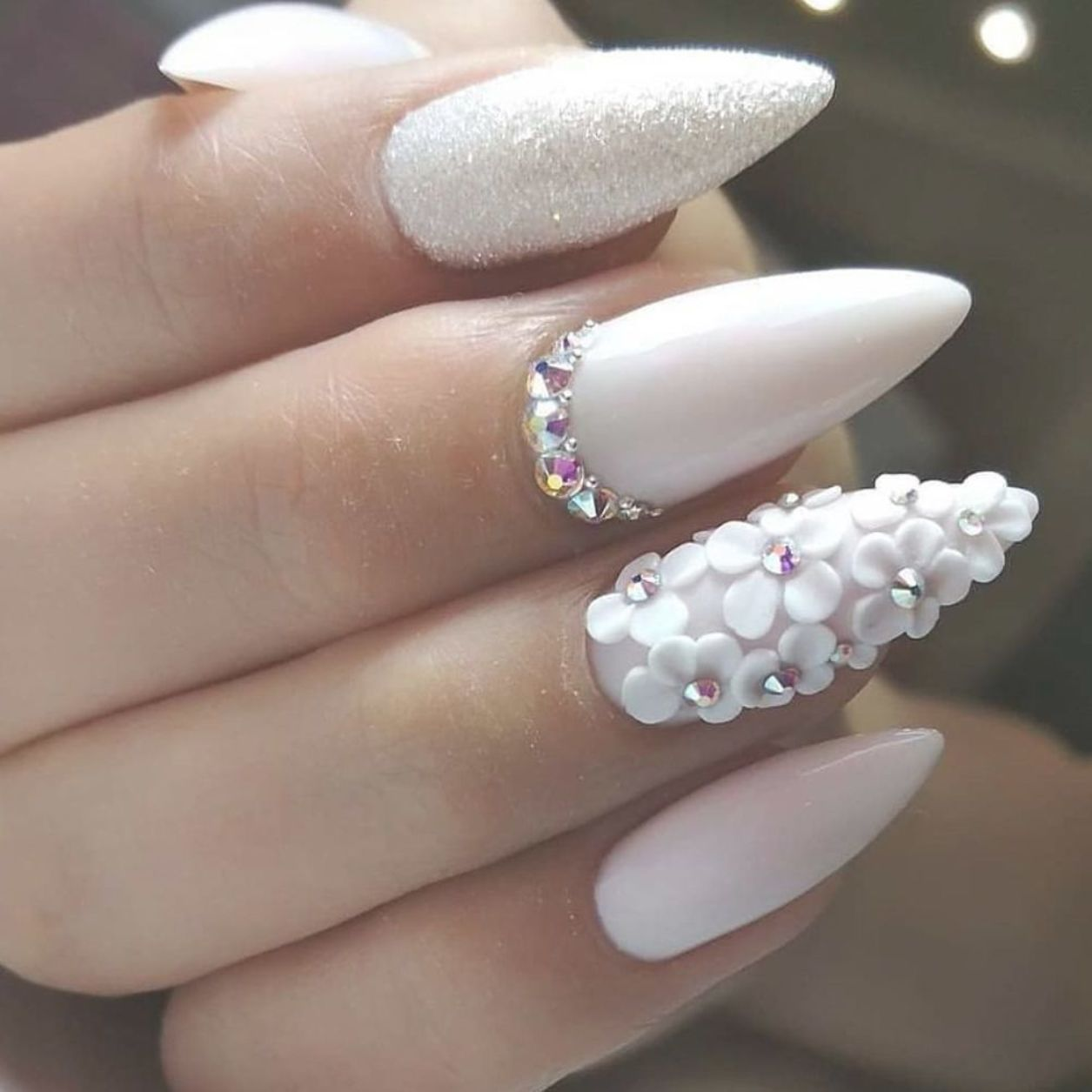 Pokadot Nails For Wedding nails are an art expression to many brides nowadays with Beautiful Design Picture Credit #nails #nailstagram #nailsofinstagram #notpolish #manicure #artnails#fashionnails #nailart