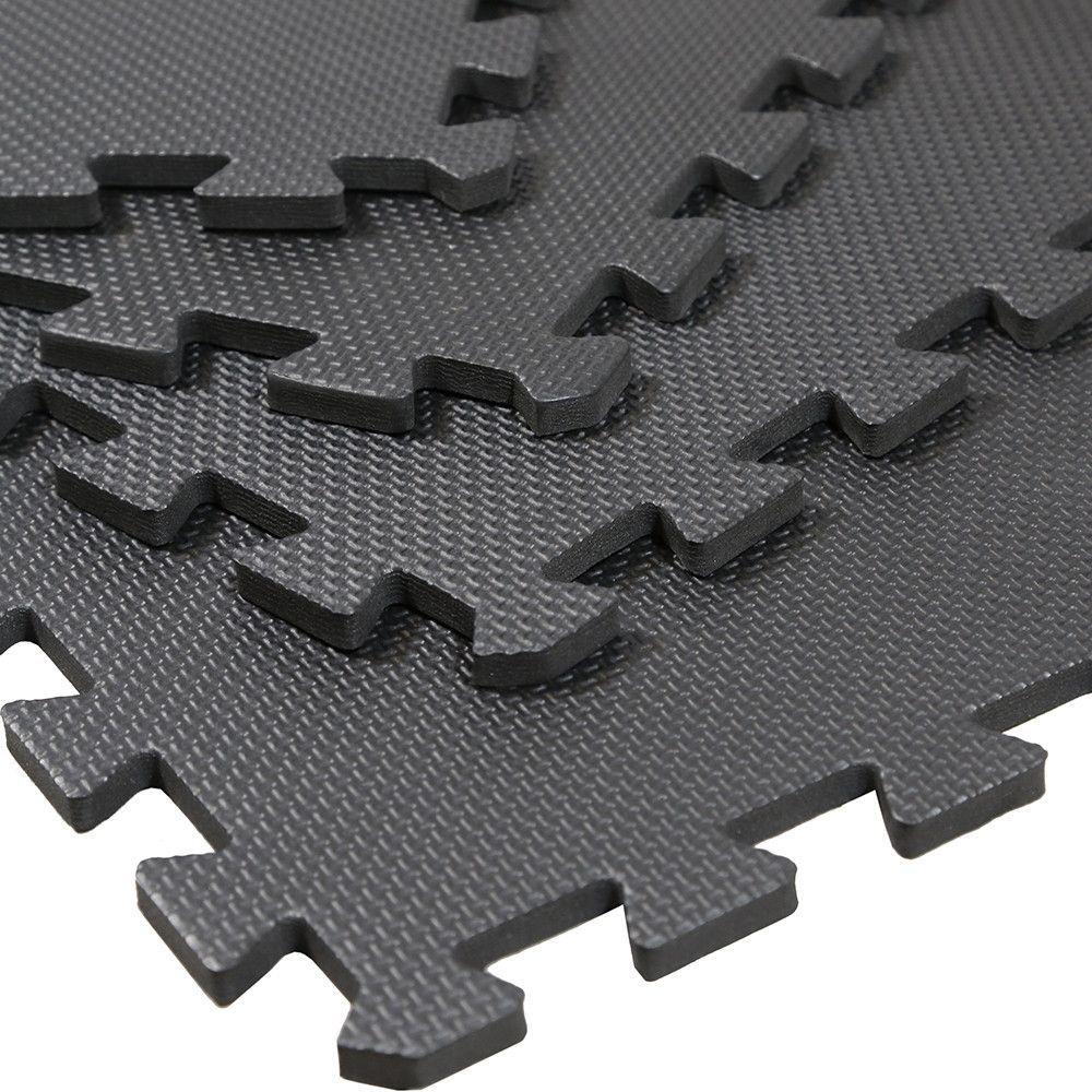 Clevr 96 Sq Ft Eva Foam Floor Mat Interlocking Exercise Gym Flooring 24 Pcs Each