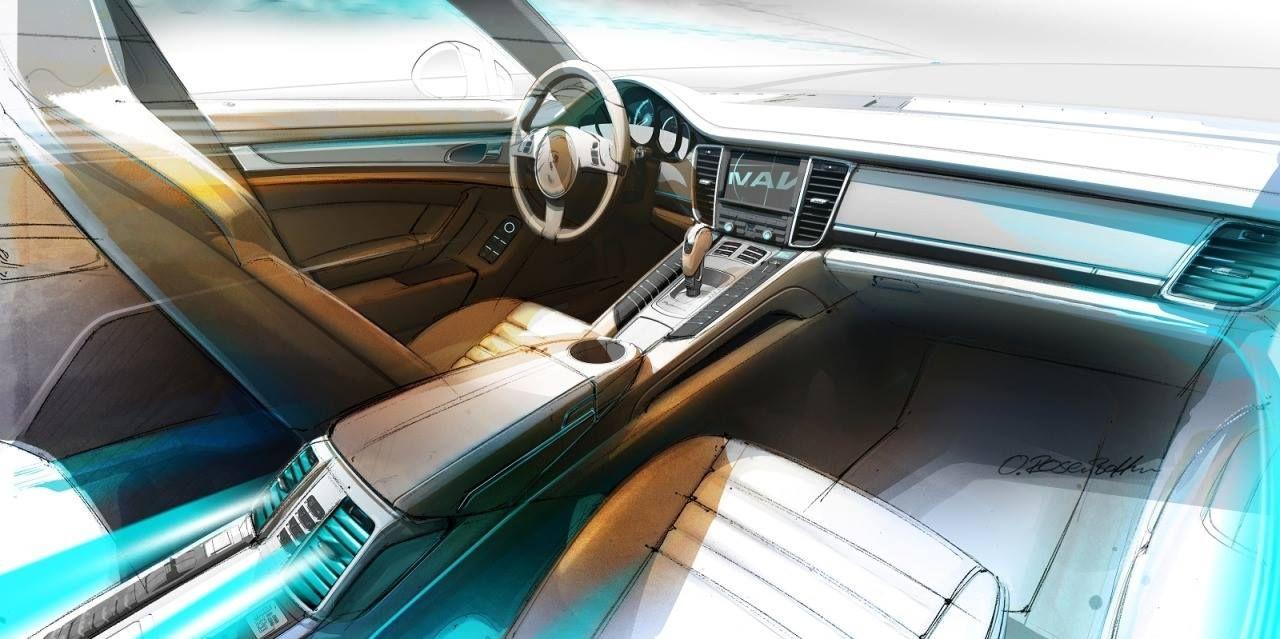 Porsche Panamera Interior sketch