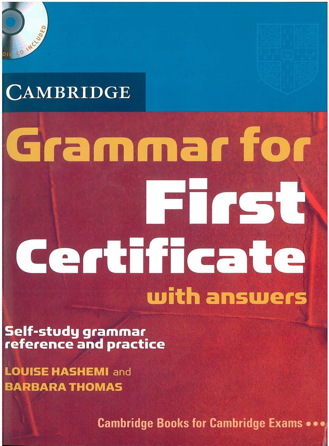 First Certificate Libros Cambridge University Press Grammar For First Fce