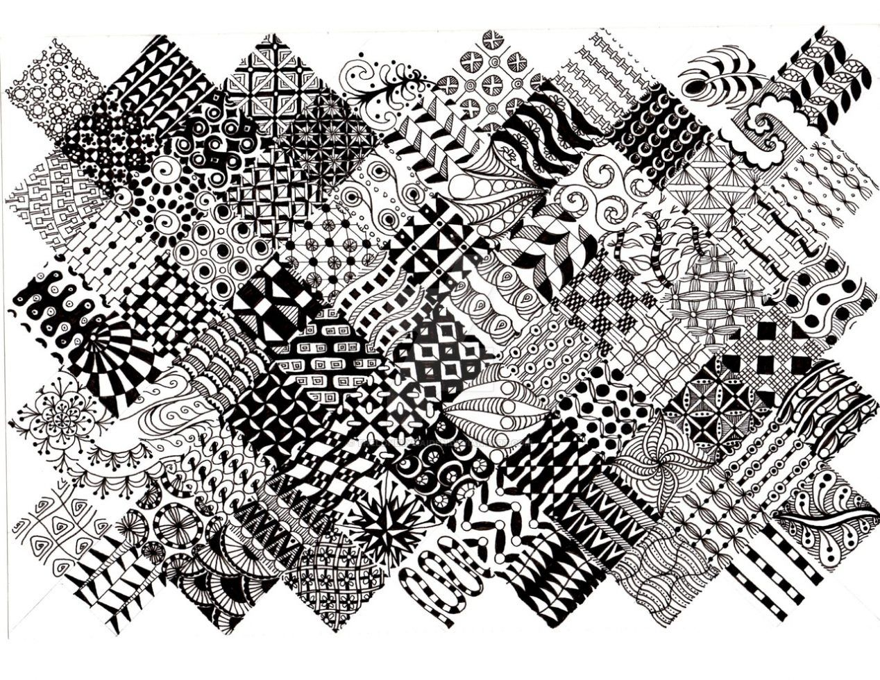 Zentangle Patterns To Print Zentangle Patterns Easy Zentangle