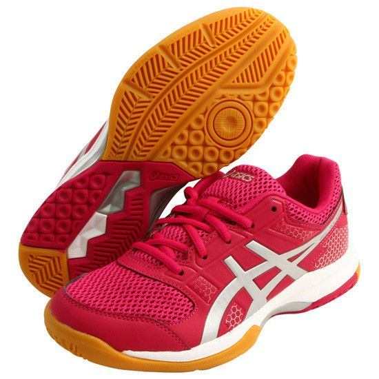 ASICS GEL Rocket Rocket GEL 8 Women's Badminton Shoes Running Indoor Gym Pink ... 1a7911