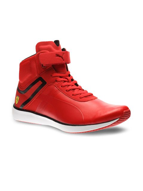 Buy Puma Men Red F116 Skin Mid SF Casual Shoes - Casual ...