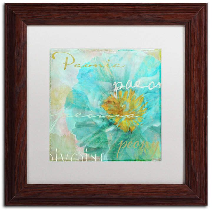 Trademark Global Color Bakery 'Blue Peony Light' Matted Framed Art, 11 #bluepeonies