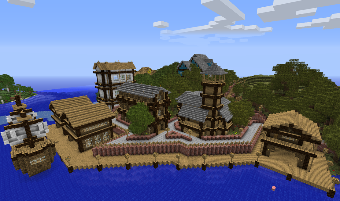 Minecraft Docks Google Search Minecraft Cool Things To Build Minecraft Survival