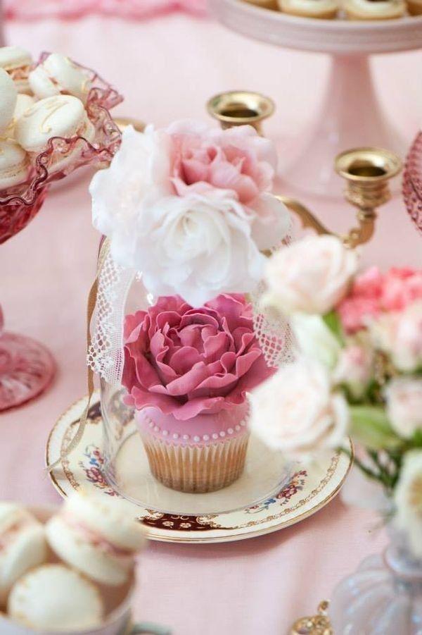 Pink Fl Cupcakes Garden Tea Party