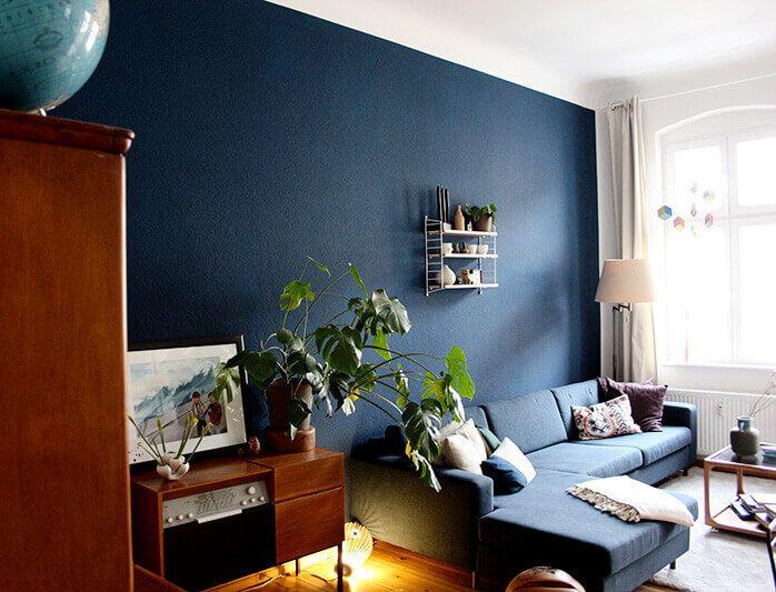 Wohnzimmer streichen- Meine neue Wandfarbe Pinterest Interiors - wohnzimmer blau holz