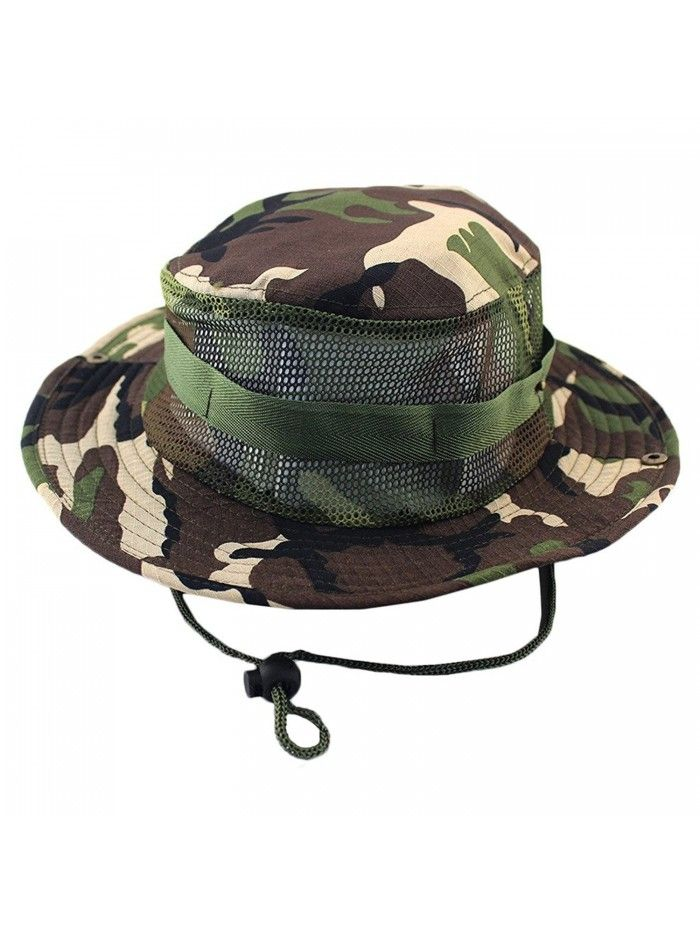 570297f6f2492 ... quality design 536c6 a0f43 Outdoor Boonie Hat Summer Sun Protect Caps  Fishing Hats Mesh Bucket Hat ...