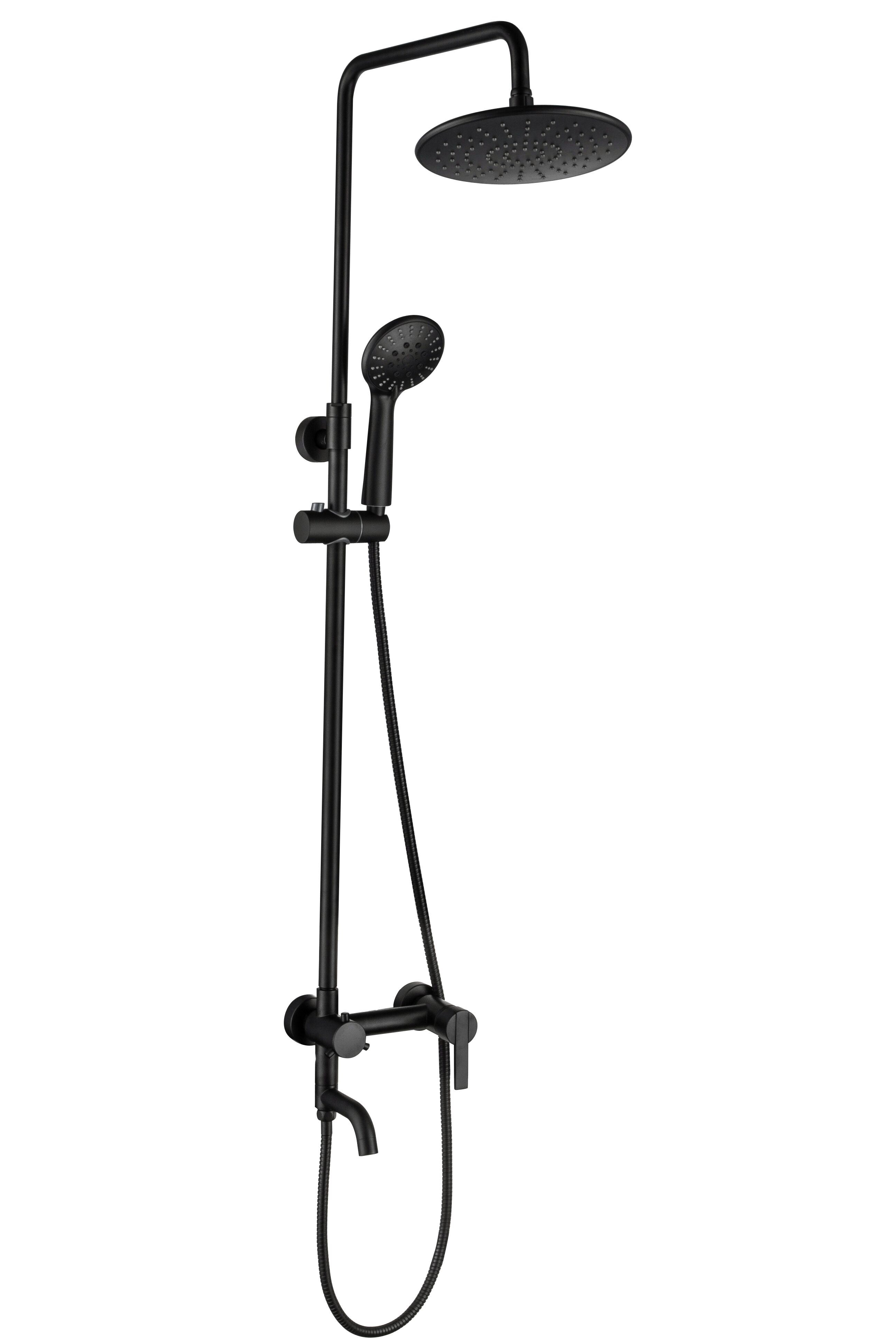 New Design Matte Black Bathroom Shower Faucet 9 Rainfall Shower