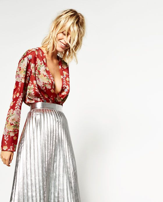 Image 3 of PRINTED BODYSUIT WITH CROSSOVER NECKLINE from Zara ... 954d95568