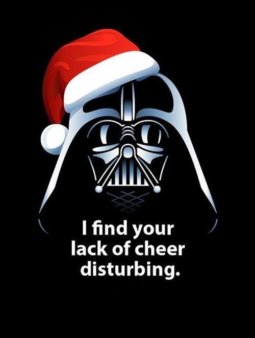Even Vader Has Christmas Spirit Star Wars Christmas Darth Vader Christmas Christmas Memes