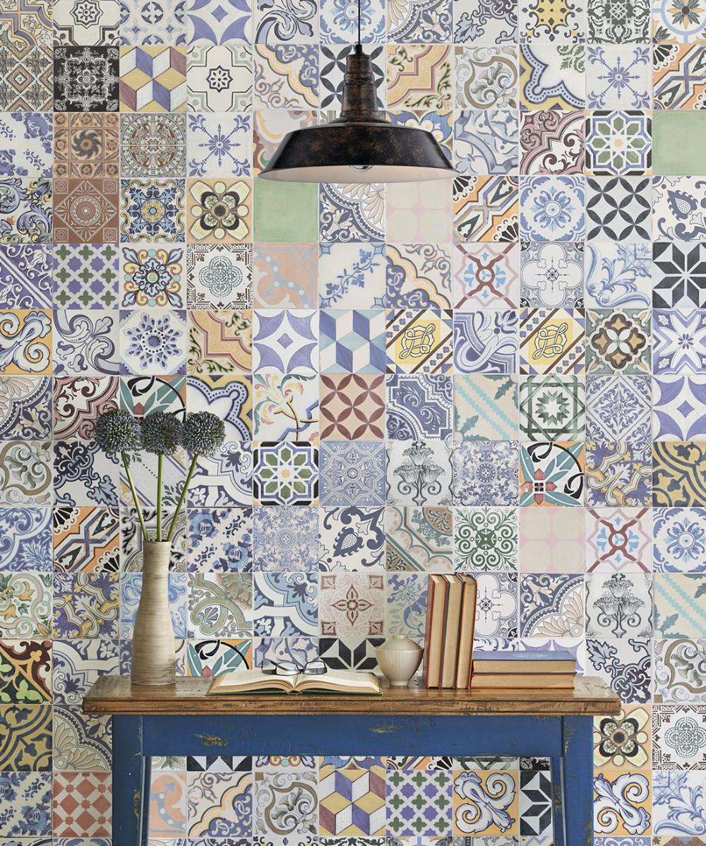 Federation Tiles Wallpaper • Vintage Ceramic Tiles