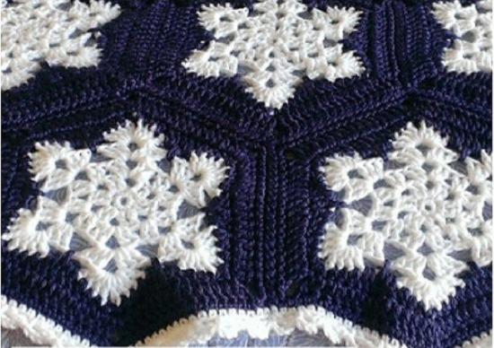 Winter Snowflake Afghan - Crafts Patterns in 2020 ...