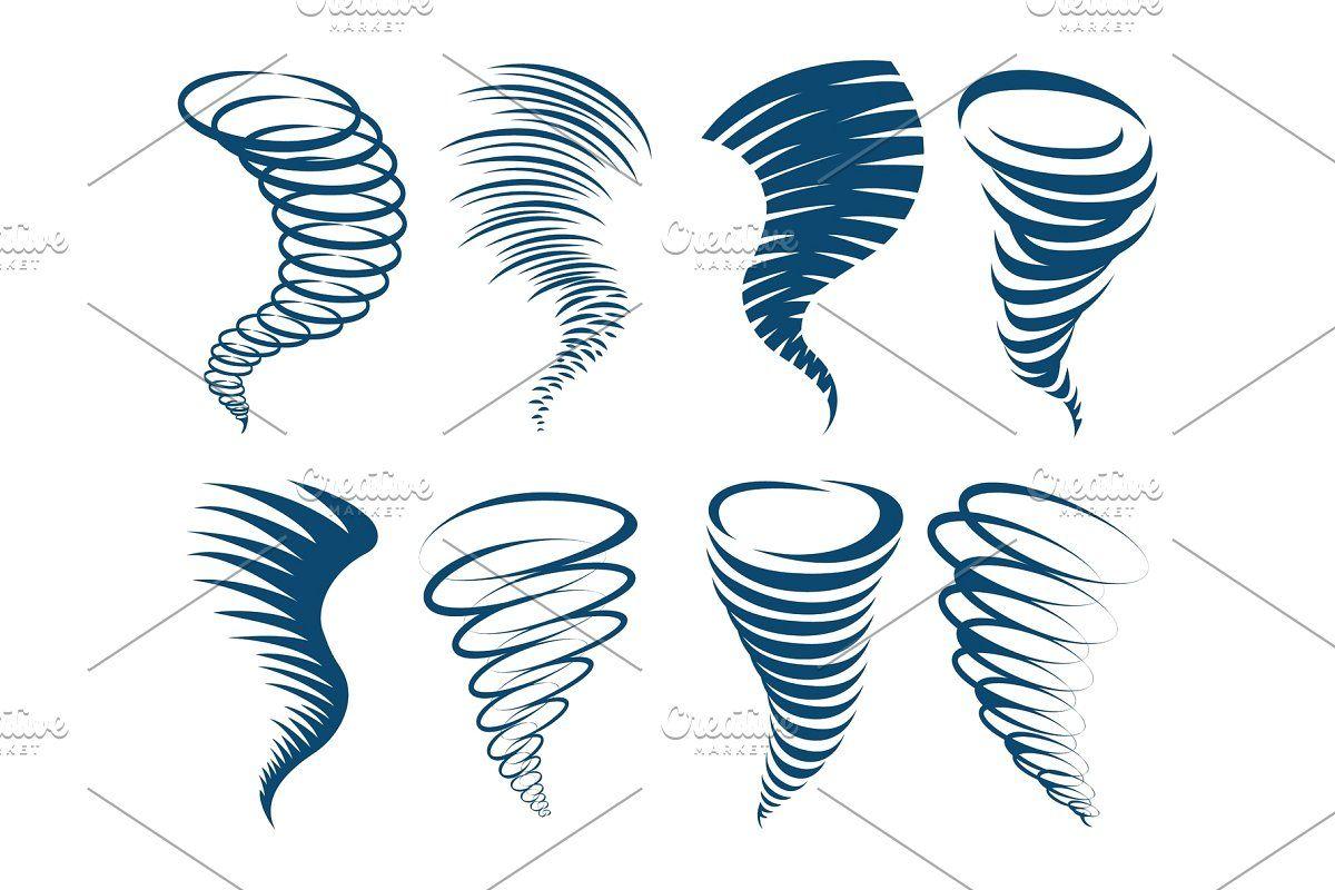 Tornado Cartoon Icons In 2020 Cartoon Icons Cartoon Vector Illustration