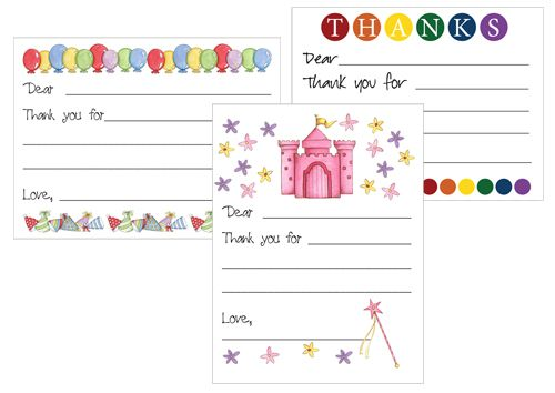 Printable Thank You Card Templates for Kids Card templates - postcard templates free