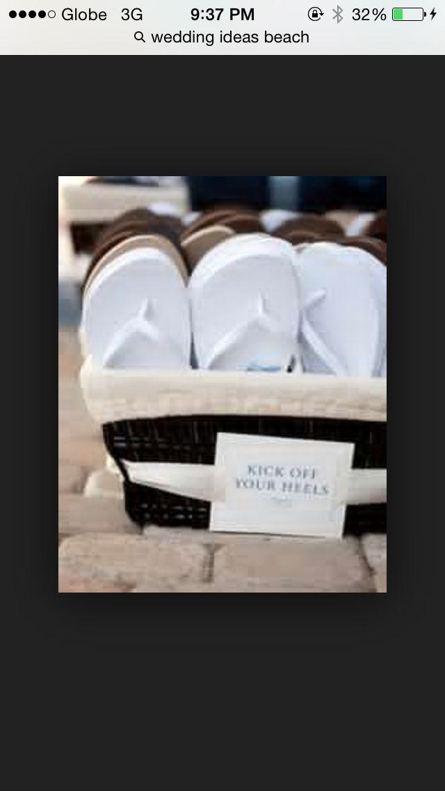 Yes. No heels on my wedding.