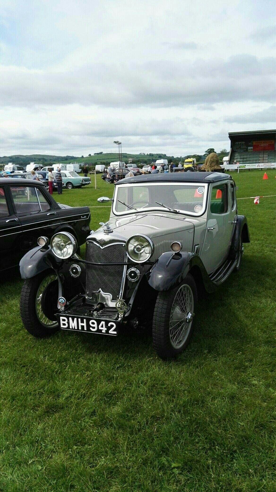 BMH 942 1934 Riley kestrel all original at Dumfries vintage rally ...