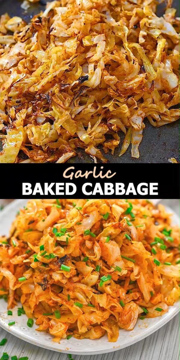Garlic Baked Cabbage