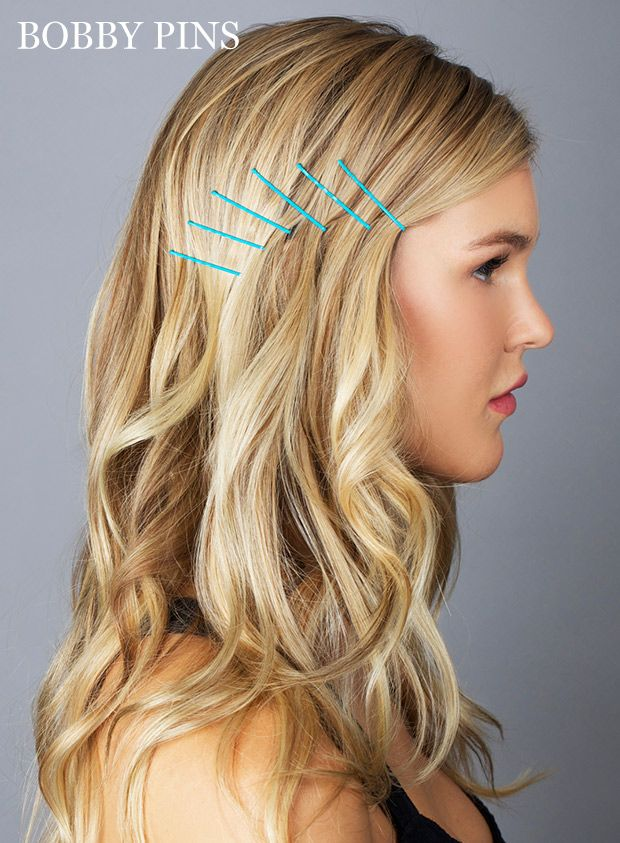 Hair How To 10 Genius Ways To Use Bobby Pins Bobby Pin Hairstyles Hair Styles Pin Hairstyles