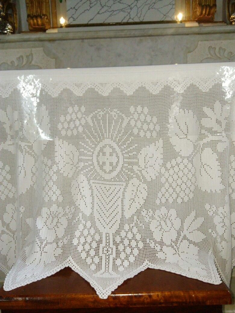Toalha do alta no Convento de Macaúbas em Santa Luzia, MG