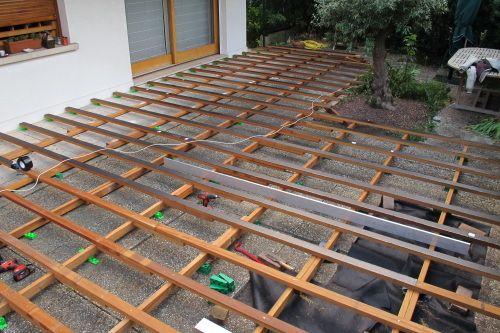 Construire une double structure pour ma terrasse Structure - construction terrasse en bois sur parpaing