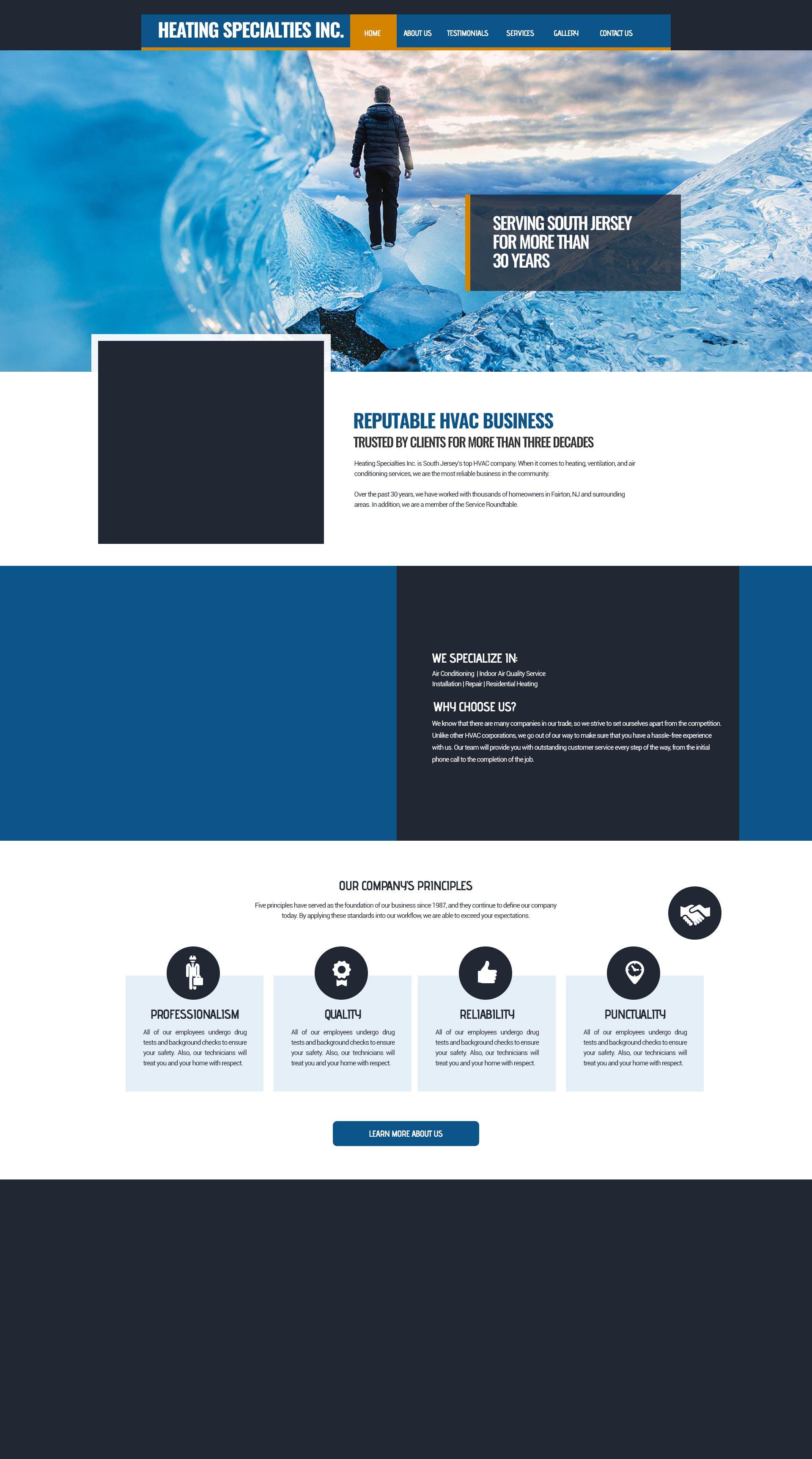 Air Condition Web Design Hvac Business Web Design Template Design
