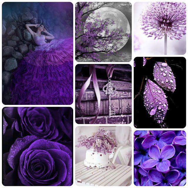 """Evolution-Scrap: Задание """"Акцентирование цветом. Фиолетовый/сиреневый"""""""