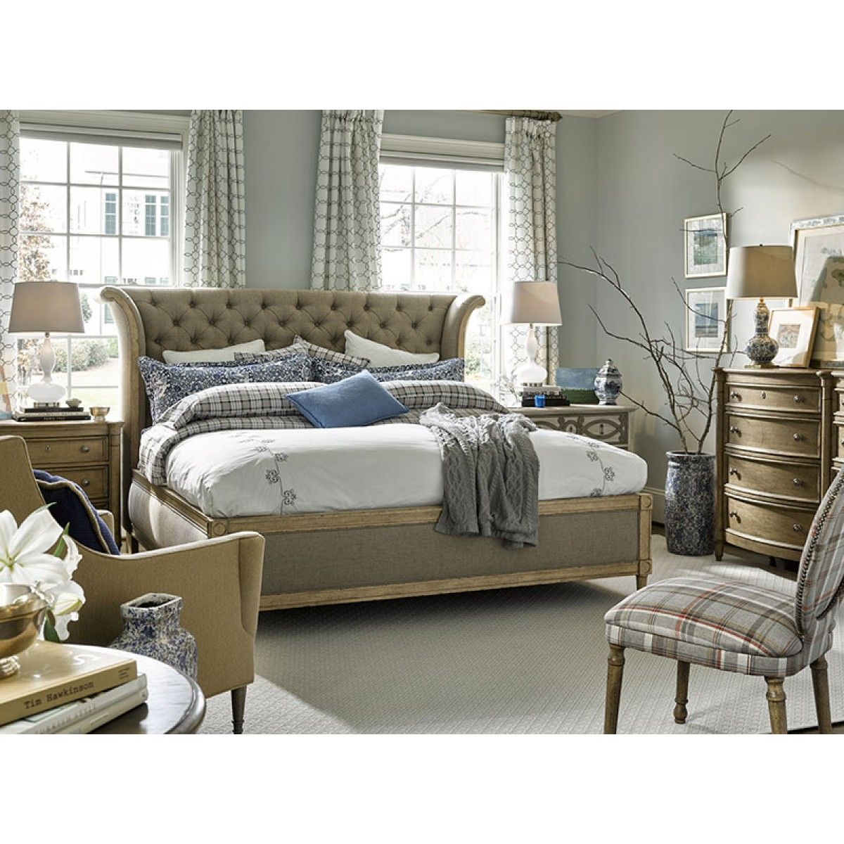 houzz bedroom furniture. Campton Grove, Grove Daventry Queen Upholstered Bed In Brown, Dining Room Table Sets, Bedroom Furniture, Curio Cabinets And Solid Wood Furniture Houzz